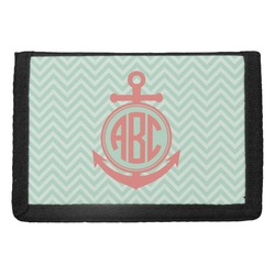 Chevron & Anchor Trifold Wallet (Personalized)