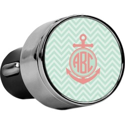Chevron & Anchor USB Car Charger (Personalized)