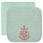 Chevron & Anchor Facecloth / Wash Cloth (Personalized)
