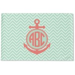 Chevron & Anchor Woven Mat (Personalized)