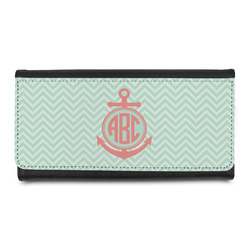 Chevron & Anchor Leatherette Ladies Wallet (Personalized)