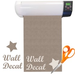 Burlap Print Vinyl Sheet (Re-position-able)