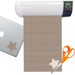 Burlap Print Sticker Vinyl Sheet (Permanent)