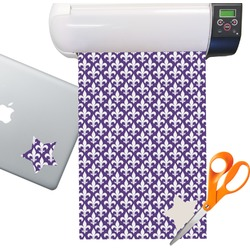 Fleur de Lis Sticker Vinyl Sheet (Permanent)