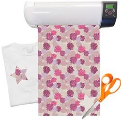 Mums Floral Heat Transfer Vinyl Sheet (12