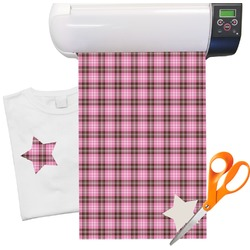 "Two Color Plaid Pattern Heat Transfer Vinyl Sheet (12""x18"")"