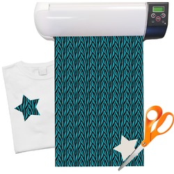 "Two Color Zebra Heat Transfer Vinyl Sheet (12""x18"")"