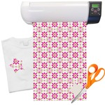 "Pink & Green Suzani Floral Heat Transfer Vinyl Sheet (12""x18"")"