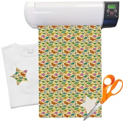 "Dinosaurs Pattern Heat Transfer Vinyl Sheet (12""x18"")"