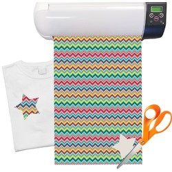 "Retro Chevron Patten Heat Transfer Vinyl Sheet (12""x18"")"