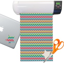 Retro Chevron Patten Sticker Vinyl Sheet (Permanent)