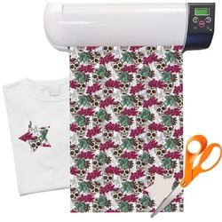 Sugar Skulls Heat Transfer Vinyl Sheet (12