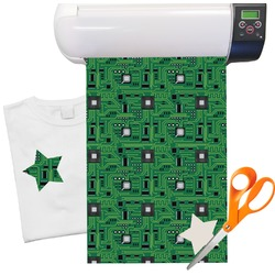 "Circuit Board Pattern Heat Transfer Vinyl Sheet (12""x18"")"