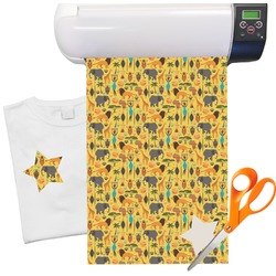 "African Safari Print Heat Transfer Vinyl Sheet (12""x18"")"