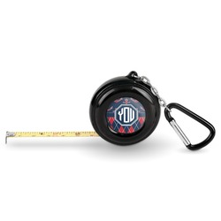 Anchors & Argyle Pocket Tape Measure - 6 Ft w/ Carabiner Clip (Personalized)