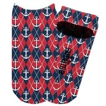 Anchors & Argyle Adult Ankle Socks (Personalized)