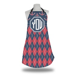 Anchors & Argyle Apron (Personalized)