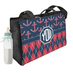 Anchors & Argyle Diaper Bag (Personalized)