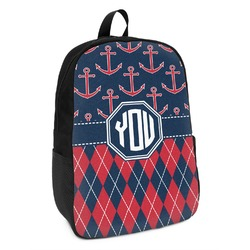 Anchors & Argyle Kids Backpack (Personalized)