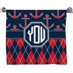 Anchors & Argyle Full Print Bath Towel (Personalized)