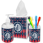 Anchors & Argyle Bathroom Accessories Set (Personalized)