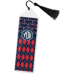 Anchors & Argyle Book Mark w/Tassel (Personalized)