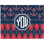 Anchors & Argyle Placemat (Fabric) (Personalized)