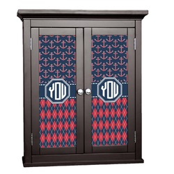 Anchors & Argyle Cabinet Decal - XLarge (Personalized)
