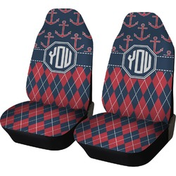 Anchors & Argyle Car Seat Covers (Set of Two) (Personalized)