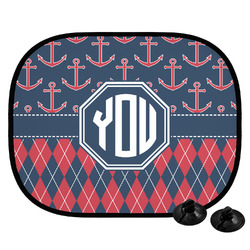 Anchors & Argyle Car Side Window Sun Shade (Personalized)
