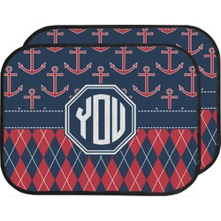 Anchors & Argyle Car Floor Mats (Back Seat) (Personalized)
