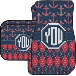 Anchors & Argyle Car Floor Mats (Personalized)