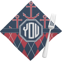 Anchors & Argyle Napkins (Set of 4) (Personalized)