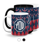 Anchors & Argyle Coffee Mugs (Personalized)