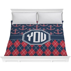 Anchors & Argyle Comforter - King (Personalized)