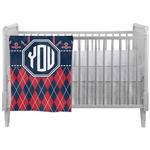Anchors & Argyle Crib Comforter / Quilt (Personalized)