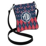 Anchors & Argyle Cross Body Bag - 2 Sizes (Personalized)