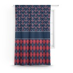 Anchors & Argyle Curtain (Personalized)