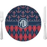 Anchors & Argyle Glass Lunch / Dinner Plates 10