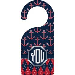 Anchors & Argyle Door Hanger (Personalized)