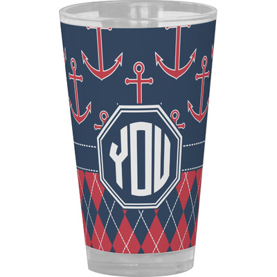 Anchors & Argyle Drinking / Pint Glass (Personalized)