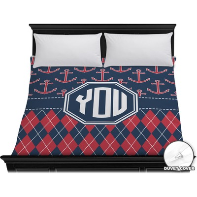 Anchors & Argyle Duvet Cover - King (Personalized)