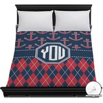 Anchors & Argyle Duvet Cover (Personalized)