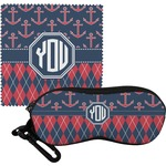Anchors & Argyle Eyeglass Case & Cloth (Personalized)