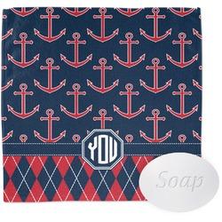 Anchors & Argyle Wash Cloth (Personalized)