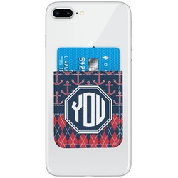 Anchors & Argyle Genuine Leather Adhesive Phone Wallet (Personalized)