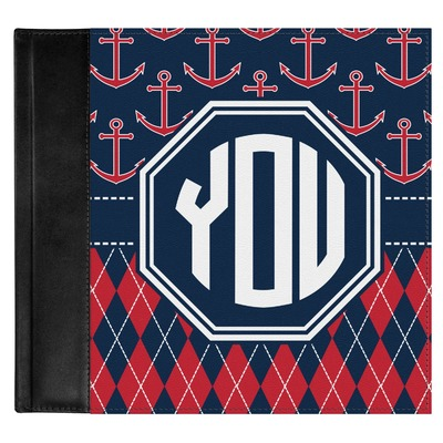 Anchors & Argyle Genuine Leather Baby Memory Book (Personalized)