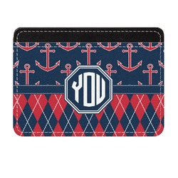 Anchors & Argyle Genuine Leather Front Pocket Wallet (Personalized)