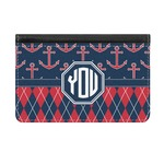 Anchors & Argyle Genuine Leather ID & Card Wallet - Slim Style (Personalized)