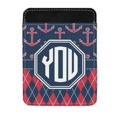 Anchors & Argyle Genuine Leather Money Clip (Personalized)